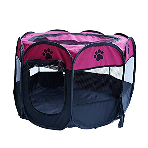 Longwu Pet Foldable Exercise Kennel Dogs Cats Rabbits Pigs Indoor/outdoor