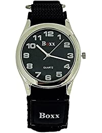 Boxx Quartz Analogue Black Easy Fasten Strap Gents Watch BOXX282
