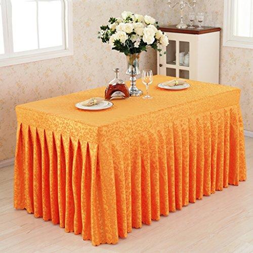 %Tablecloth Fitted Table Rock Cover Hochzeit Bankett mit Top Topper Tischdecke -Orange Haken Blumen (Farbe : Orange Hook Flowers, größe : 60 * 150 * 75CM) (Orange-blumen-tischdecke)