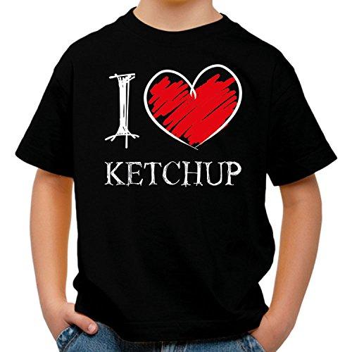I love Ketchup FUN Kinder T-Shirt_schwarz_158/164