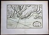 Grafik Haiti Baie du Mesle Flammants Hispaniola Bellin handcolored antique map