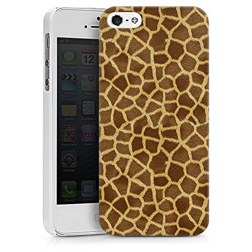 Apple iPhone X Silikon Hülle Case Schutzhülle Giraffe Look Fell Tiere Hard Case weiß