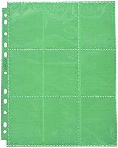 Ultimate Guard 18-Pocket Pages Side-Loading Verde (50)