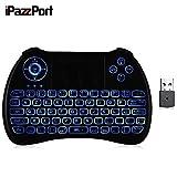 iPazzPort KP - 810 - 21Q92 Touche Mini-clavier Français sans fil avec Pavé Tactile, Clavier AZERTY avec Rétroéclairage Idéal pour PC, Xbox 360, PS4, TV Box, etc