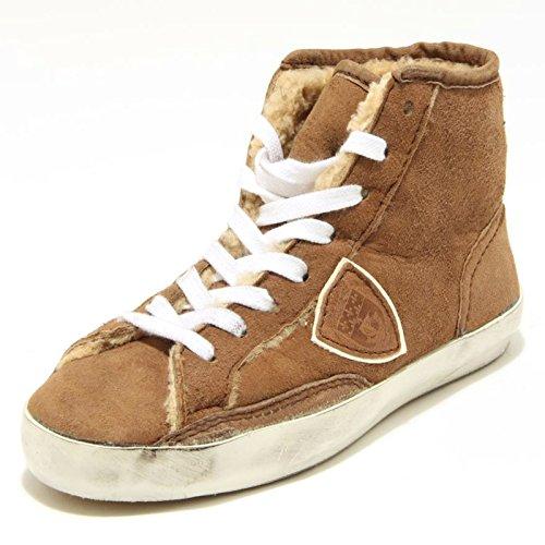3038G sneaker donna nocciola PHILIPPE MODEL scarpa shoes women Nocciola