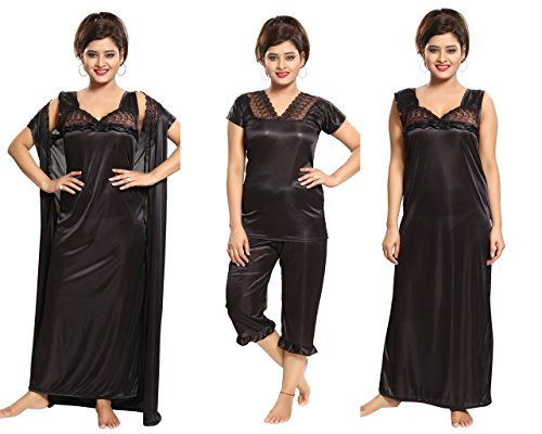 Compare womens nighty with robe top and capri Prices Online and Buy ... a2236d3d0