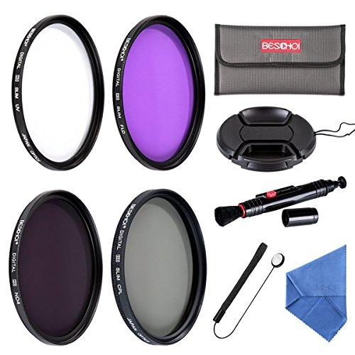 Galleria fotografica Beschoi Filtro Nd+Uv+Filtro Fld+CPL, Kit Filtri 11 Accessori per Canon Nikon Sony Sigma DSLR 67mm