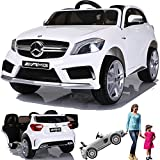 SIMRON - Mercedes-Benz A45 AMG SUV Ride-On 12V Kinderauto Kinderfahrzeug (Weiss)