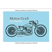 Motor Craft Motorräder (Wandkalender 2018 DIN A2 quer): Zeichnungen von Motorrädern (Drawing Bikes) (Monatskalender, 14 Seiten ) (CALVENDO Orte)