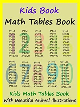Kids Math Tables Book : Teach Math Tables To Your Kids by [Megs]