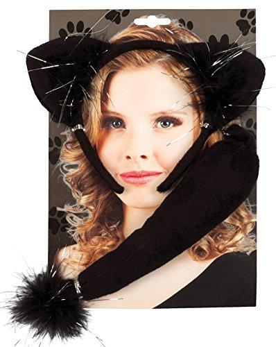 Boland 52307 - Kostümset Katze, Haarreif und (Halloween Katze Kostüm Zubehör Schwarze)