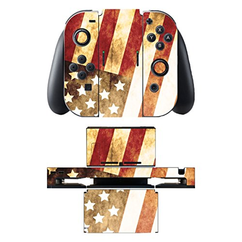 "Motivos Disagu Design Skin para Nintendo Switch + Controller + Dockingstation: ""Amerika"" 51Ta6uL9roL"