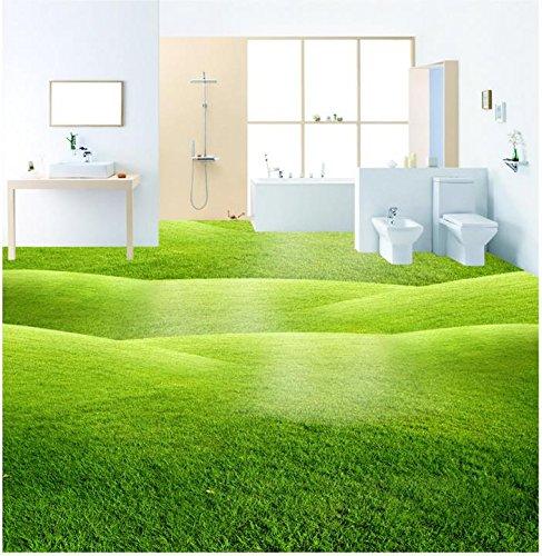 Preisvergleich Produktbild Chlwx Grüne Natur Grünland 3D Floog Rutschfeste Schlafzimmer Coffee House Badezimmer 3D-Bodenbeläge Photo R