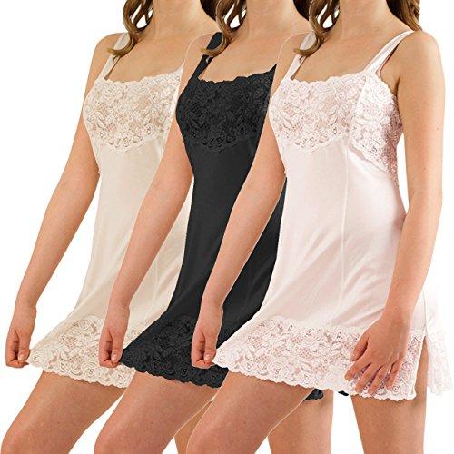 Graziella by Galeja Unterrock Dessous Unterkleid 100% ENKA Viskose Made in Germany 9 Größen 38 bis 54 Weiß