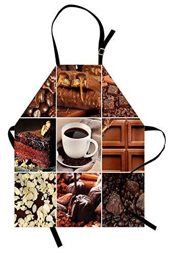 Marrón Delantal, Café Chocolate Sabrosos Collage