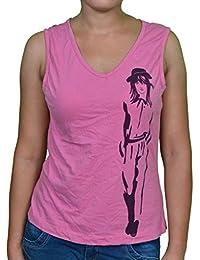 FICUSTER Women's/Girl's Sleeveless Pink Top - MEDIUM