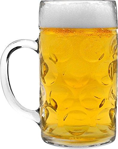 Alemán Stein Cerveza Tankard / Cristal - 2 pintas (40 oz) - en caja de regalo