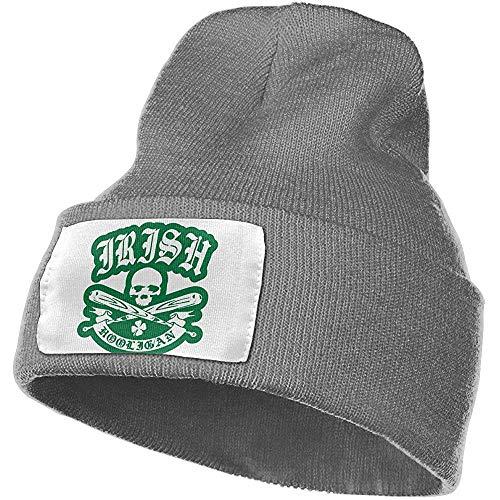 Dale Hill Irish Hooligan Damen und Herren Skull Caps Winter Warme, Dehnbare Strickmützen