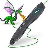 Amzdeal 3D Stift 3D schwarz intelligenter Druckstift zum Zeichnen und Graffiti, kompatibel mit PLA- Filamenten, USB Kable, 3M Filamente