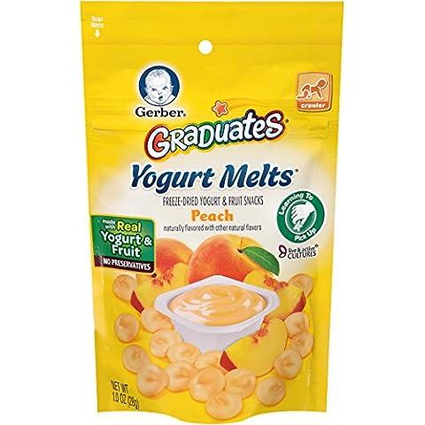 Gerber, Graduados, Yogur Derrite, Melocotón, 1 oz (28 g)