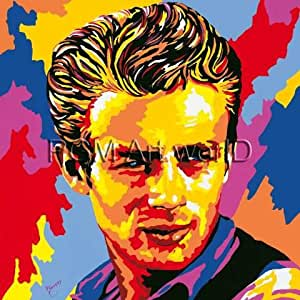 "Reproduction d'Art: Vladimir Gorsky ""James Dean"" 150 x 150"