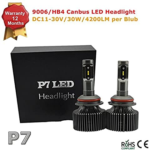 12V-30V 9006 HB4 Canbus Car LED Headlight Bulbs 60w 8400lm CSP Chip Auto LED Car Headlight Kit Truck Conversion Kit - Replace for Halogen or HID Bulbs