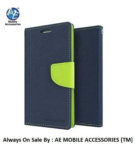AE Mercury Fancy Diary CARD Wallet Flip Case Back Cover for SONY XPERIA C (c2305) BLUE GREEN  available at amazon for Rs.259