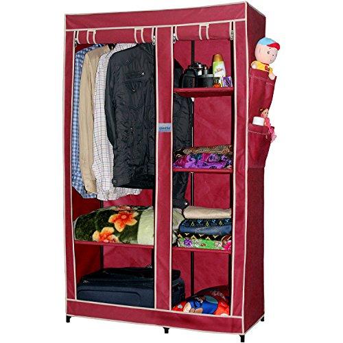 CbeeSo Portable Metal Frame Wardrobe Closet