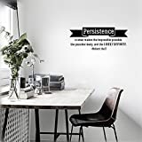 Stickers Muraux Vinyl Wall Art Inspirational Quotes And Saying Home Decor Decal Sticker Persistence Is What Makes The Impossible Possible, The Possible Likely, And The Likely Definite