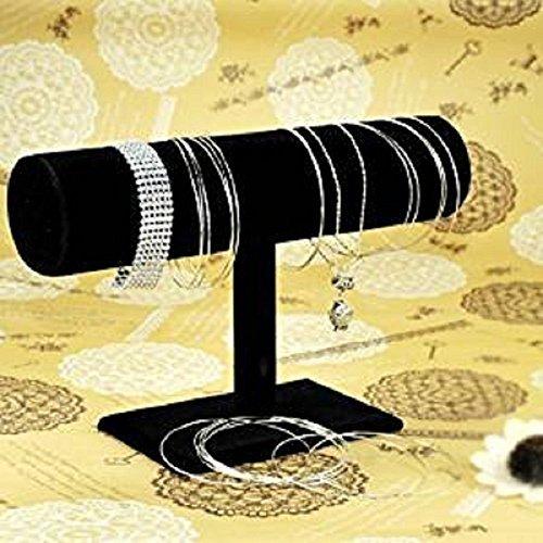 Schwarz Samt Armband Fußkettchen kurz Schlepplift Jewelry Armbanduhr Armreif Display Tower Rack stwith von cofco