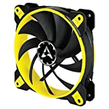 Arctic BioniX F140-140 mm Gaming Case Fan with PWM PST | Cooling Fan with PST-Port (PWM Sharing Technology) | Regulates RPM in sync - Yellow