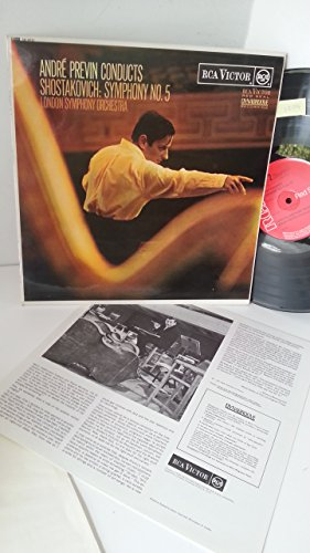 ANDRE PREVIN CONDUCTS SHOSTAKOVICH, LONDON SYMPHONY ORCHESTRA symphony no. 5, info insert, SB-6651 Rca Red Insert