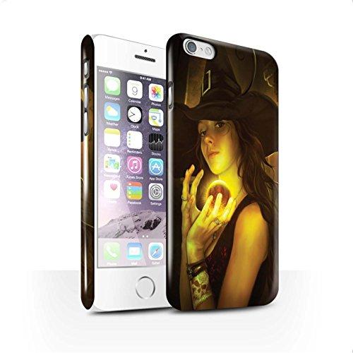 Officiel Elena Dudina Coque / Clipser Brillant Etui pour Apple iPhone 6 / Orbe/Sorcellerie Design / Magie Noire Collection Orbe/Sorcellerie