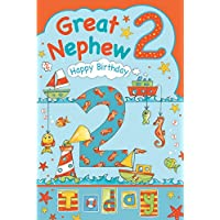 Great Nephew 2nd 2 Today Happy Birthday Card With A Lovely Verse
