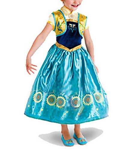 Beunique® Prinzessin Kostüm Kinder Glanz Kleid Mädchen Weihnachten Verkleidung Karneval Party Halloween Fest