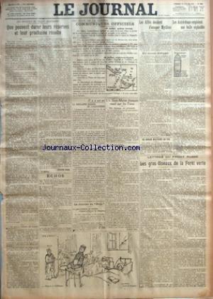 JOURNAL (LE) [No 8342] du 30/07/1915 - QUE PEUVENT DURER LEURS RESERVES ET LEUR PROCHAINE RECOLTE PAR JACQUES DHUR - 361E JOUR DE LA GUERRE - COMMUNIQUES OFFICIELS - IL Y A UN AN - LA CINGLANTE RIPOSTE DE L'ANGLETERRE - LA JOURNEE DU POILU - UN SOUS-MARIN FRANCAIS COULE PAR LES TURCS - LES JOURS SE SUIVENT... - RECTIFIONS NOTRE TIR PAR GUSTAVE TERY - LES ALLIES DECIDENT D'OCCUPER MYTILENE - UN BIPLAN MILITAIRE EN FEU - LES AUTRICHIENS EMPLOIENT UNE BALLE EXPLOSIBLE - LETTRES DU FRONT RUSSE - LE
