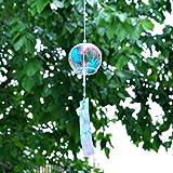 Generic Japanisches Glas Windspiel Glocke Hängen Ornament Garten Haus Flur Balkon Fenster Dekoration Geschenk - Blumenmuster