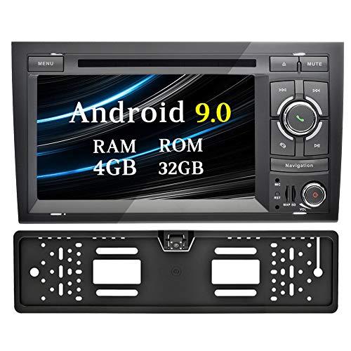 Ohok Android 9 0 Autoradio 2 Din Unité de tête pour Audi A4 2002-2008 8  Core Stéréo 4G+32G Sat Nav avec Lecteur DVD Supporte GPS Bluetooth WLAN