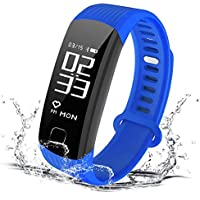 HOMESTEC Smart Watch bracelet Fitness Tracker Smart Bracelet with Heart rate monitor Sleeping Management Pedometer with OLED Touch Screen for Android iOS Smartphones