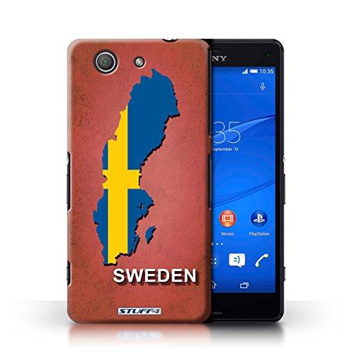 Kobalt® Imprimé Etui / Coque pour Sony Xperia Z3 Compact / Australie conception / Série Drapeau Pays Suède/Suédois