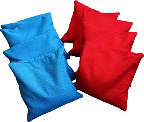 Original Cornhole Bean Bag Set (8er) - 4 rote und 4 Blaue Cornhole Säckchen
