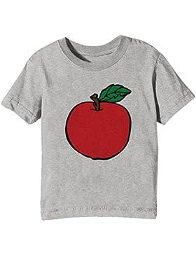 Manzana Niños Unisexo Niño Niña Camiseta Cuello Redondo Gris Manga Corta Todos Los Tamaños Kids Unisex Boys Girls...