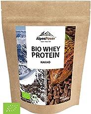 ALPENPOWER | BIO WHEY Protein Kakao | Ohne Zusatzstoffe | 100% natürliche Zutaten | Bio-Milch aus Bayern und Ö