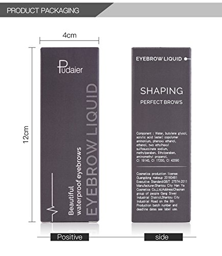 Set professionale di cosmetici waterproof per sopracciglia, con pigmenti a lunga durata e pennello, per sopracciglia definite, come quelle del trucco permanente