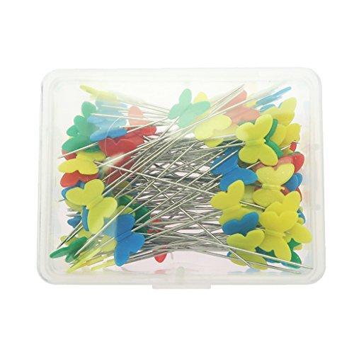 B Blesiya 100 Schmetterling Nähen Patchworks Pins Flach Head Pins Nähen DIY Werkzeug Nadel Set -