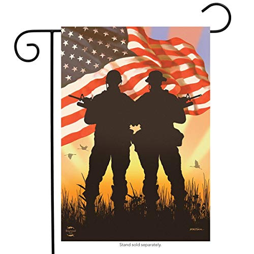 27036012dc0c1 ASKYE American Heroes Patriotic Garden Flag Military Troops for Party  Outdoor Home Decor(Size: 12.5inch W X 18 Inch H)
