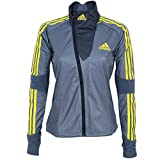 adidas Damen Athleten Jacke Cross Country Jacket Outdoor Skisport Wintersport (grau-gelb, 34)