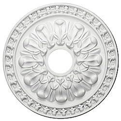 Ekena Millwork CM18WA 18-Inch OD x 3 1/2-Inch ID x 1 3/8-Inch P Warsaw Ceiling Medallion