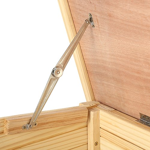 ZELSIUS Holzgarage für Rasenmäher Roboter, Garage aus Holz für Mähroboter, Rasenmäherrobotergarage, Mährobotergarage, Carport für Rasenroboter (natur)