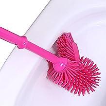 suyizn WC spazzola per Angoli Pulizia Spazzolone long-hand doppio lato con manico antiscivolo Grips e (10 Green Way)
